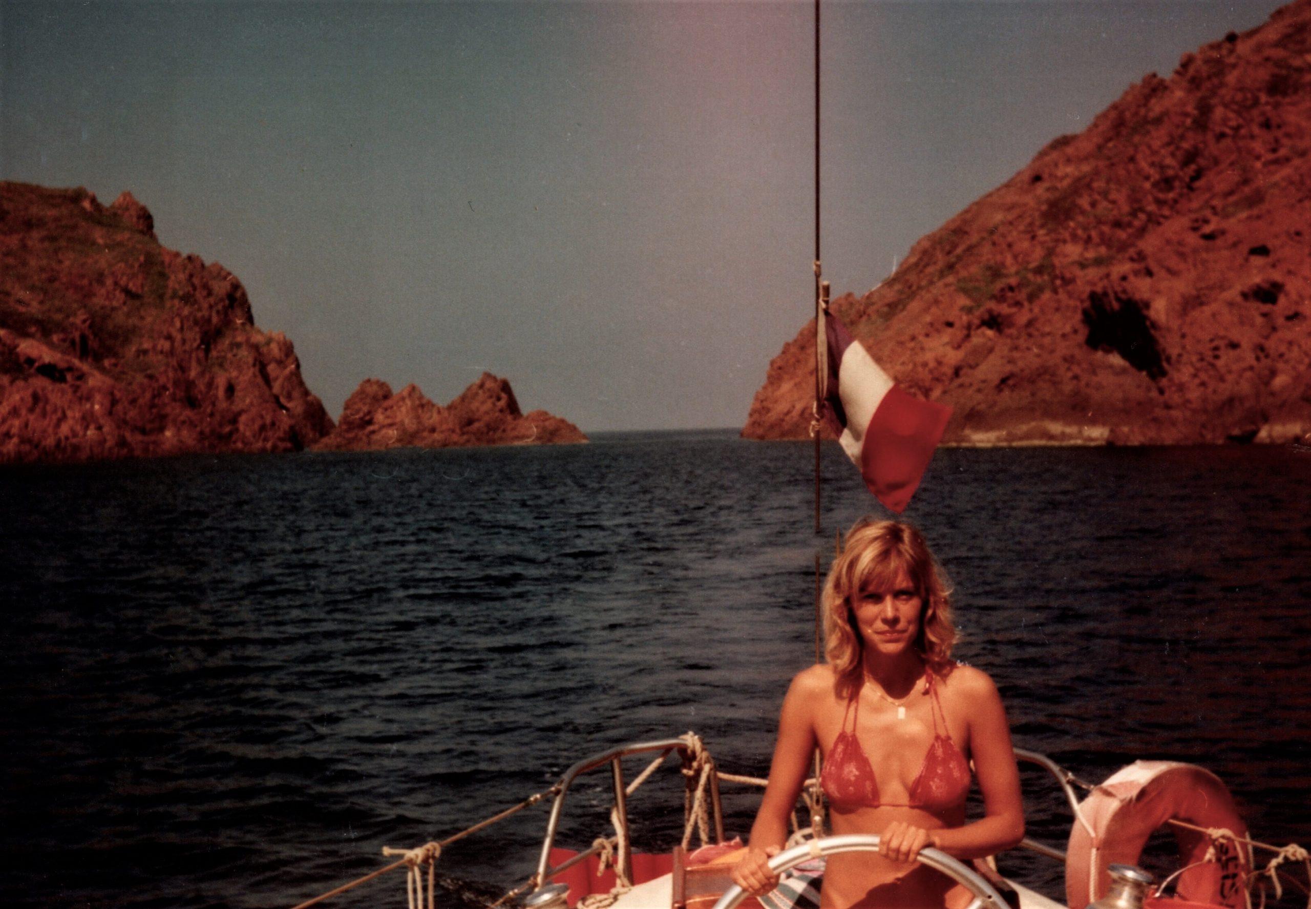 Liz sailing in Spain